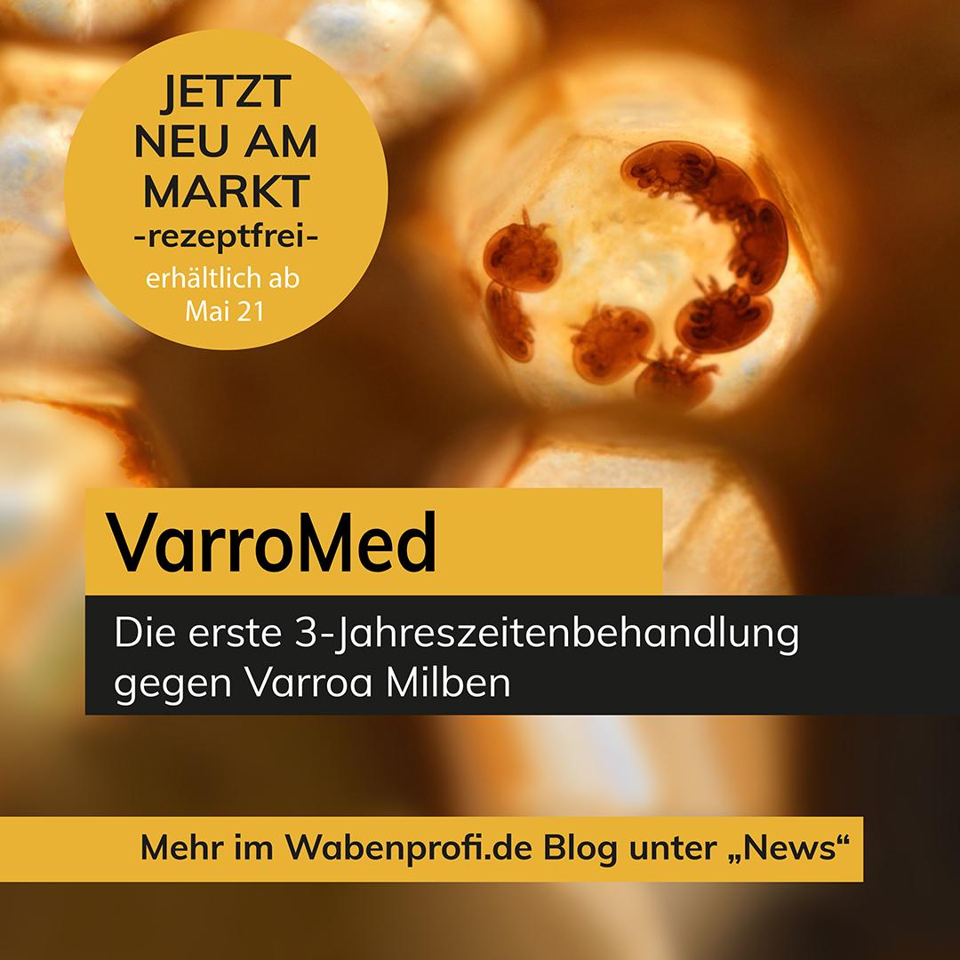 VarroMed - gebrauchsfertiges Mittel gegen Varroa-Milben - jetzt frei verkäuflich