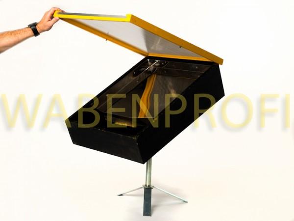 SMALTO II Sonnenwachsschmelzer Kombi 54x72cm Gelber Rahmen mit Standfuß