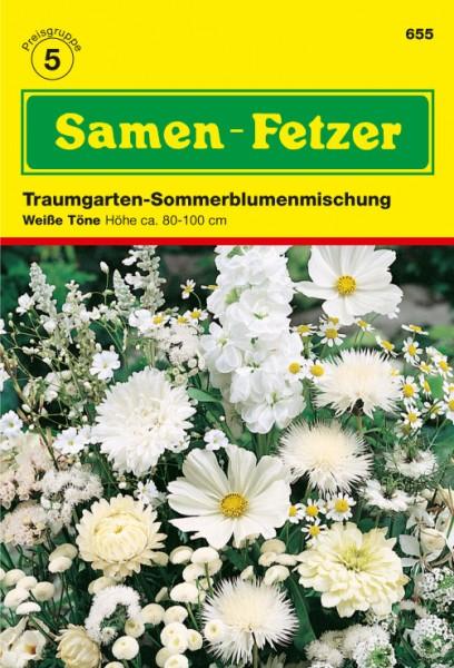 Sommerblumnemischung Weiß