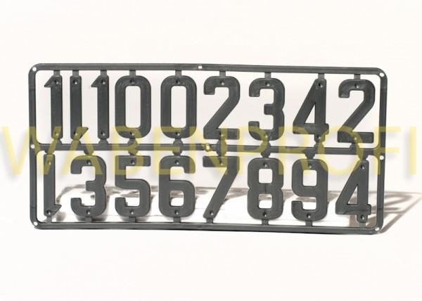 Platik-Ziffern Set 40mm