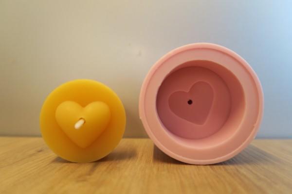 Teelichtform Herz 2