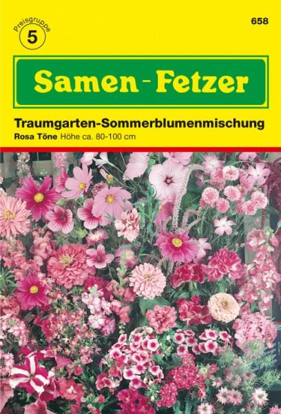 Sommerblumnemischung Rosa